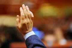 Ψηφοφορία χεριών Στοκ φωτογραφίες με δικαίωμα ελεύθερης χρήσης