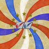 ψηφοφορία 2012 ΗΠΑ διανυσματική απεικόνιση