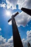 Ψηλή σκιαγραφία σταυρών Στοκ εικόνες με δικαίωμα ελεύθερης χρήσης