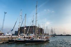 Ψηλή φυλή σκαφών στο λιμάνι Esbjerg, Στοκ Εικόνα