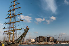 Ψηλή φυλή σκαφών στο λιμάνι Esbjerg, Στοκ φωτογραφία με δικαίωμα ελεύθερης χρήσης