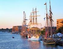 Ψηλός εορτασμός σκαφών στο Μπαίυ Σίτυ Μίτσιγκαν Στοκ Φωτογραφίες