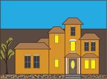 Ψηλό επαγγελματικό σπίτι απεικόνιση αποθεμάτων