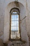 Ψηλό παράθυρο του πορτογαλικού οχυρού σε Lobito, Ανγκόλα Στοκ Εικόνα