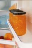 Ψυγείο με τη μαρμελάδα Στοκ Φωτογραφία