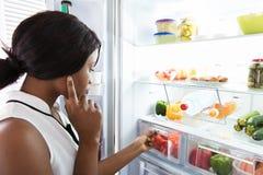ψυγείο που φαίνεται νεο στοκ εικόνες