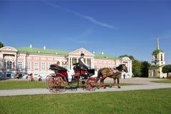 Ψυχαγωγία για τους τουρίστες σε Kuskovo, Μόσχα Στοκ εικόνες με δικαίωμα ελεύθερης χρήσης