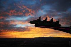Ψυχαγωγία στο Λας Βέγκας οι ΗΠΑ στο ηλιοβασίλεμα στοκ εικόνα