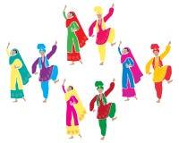 Ψυχαγωγία Bhangra διανυσματική απεικόνιση