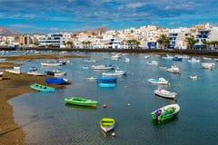 Ψυχαγωγικές βάρκες στο λιμάνι Arrecife Lanzarote Στοκ φωτογραφία με δικαίωμα ελεύθερης χρήσης
