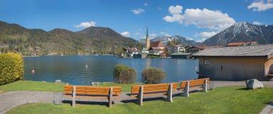 Ψυχαγωγική area spa πόλη rottach-egern στο tegernsee λιμνών Στοκ Φωτογραφία
