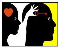 Ψυχολογία της αγάπης Στοκ φωτογραφία με δικαίωμα ελεύθερης χρήσης