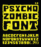 Ψυχο τύπος χαρακτήρων Zombie Στοκ εικόνες με δικαίωμα ελεύθερης χρήσης