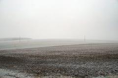 ψυχρός μέσος χειμώνας πεδί στοκ εικόνες