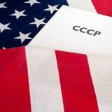 Ψυχρός Πόλεμος ΗΠΑ και ΕΣΣΔ Στοκ Εικόνες