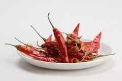 ψυχρό κόκκινο λευκό πιάτων Στοκ Φωτογραφίες