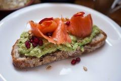 Ψωμί αβοκάντο Στοκ Εικόνα
