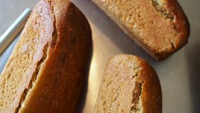 Ψωμί αρτοποιείων απόθεμα βίντεο
