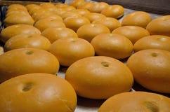 Ψωμί αρτοποιών Εγκαταστάσεις αρτοποιείων Παραγωγή του ψωμιού Φρέσκο άσπρο ψωμί από το φούρνο Στοκ εικόνα με δικαίωμα ελεύθερης χρήσης