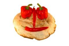 ψωμί γύρω από το χαμόγελο των λαχανικών στοκ εικόνα με δικαίωμα ελεύθερης χρήσης