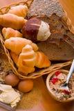 Ψωμί, εγκαταστάσεις δημητριακών, ζυμαρικά Ψωμί, εγκαταστάσεις δημητριακών, Στοκ Εικόνες