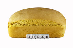 Ψωμί και λέξη στοκ φωτογραφία με δικαίωμα ελεύθερης χρήσης