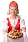 Ψωμί-και-αλατισμένη υποδοχή Στοκ Εικόνες
