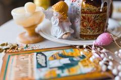 Ψωμί και αυγά Πάσχας στοκ φωτογραφία με δικαίωμα ελεύθερης χρήσης
