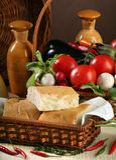 Ψωμί και λαχανικά Στοκ εικόνες με δικαίωμα ελεύθερης χρήσης