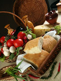 Ψωμί και λαχανικά Στοκ Εικόνα