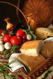 Ψωμί και λαχανικά Στοκ Εικόνες