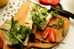 Ψωμί και βούτυρο διατροφής Vegeterian στοκ εικόνες