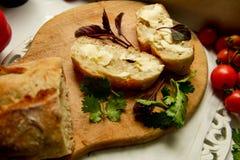 Ψωμί και βούτυρο διατροφής Vegeterian στοκ εικόνες με δικαίωμα ελεύθερης χρήσης