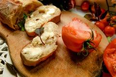 Ψωμί και βούτυρο διατροφής Vegeterian στοκ φωτογραφία