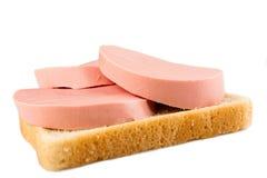 Ψωμί και λουκάνικο Στοκ Φωτογραφία