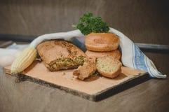 Ψωμί και ρόλοι καλαμποκιού Στοκ Εικόνα