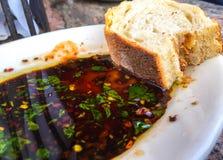 Ψωμί και Sause στοκ εικόνες