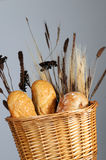 ψωμί καλαθιών Στοκ εικόνες με δικαίωμα ελεύθερης χρήσης