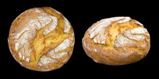 Ψωμί καλαμποκιού που απομονώνεται στο Μαύρο Στοκ Εικόνες
