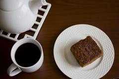 Ψωμί κολοκύθας με τον καφέ Στοκ φωτογραφία με δικαίωμα ελεύθερης χρήσης