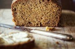Ψωμί κολοκύθας μπανανών Στοκ φωτογραφία με δικαίωμα ελεύθερης χρήσης