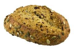 Ψωμί κολοκύθας των βακκίνιων που απομονώνεται στο λευκό στοκ εικόνα