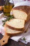 Ψωμί με το ελαιόλαδο δεντρολιβάνου και Στοκ Εικόνες