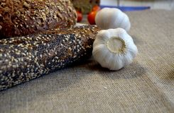 Ψωμί με το σκόρδο Στοκ Φωτογραφίες