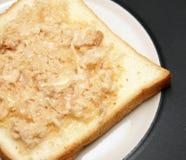 Ψωμί με το τεμαχισμένο χοιρινό κρέας Στοκ Εικόνες