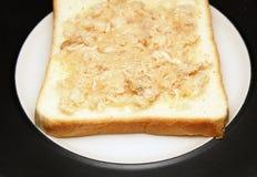 Ψωμί με το τεμαχισμένο χοιρινό κρέας Στοκ Εικόνα