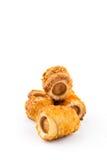 Ψωμί με το χοτ-ντογκ Στοκ Εικόνες
