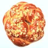 Ψωμί Πάσχας στο άσπρο υπόβαθρο - τοπ άποψη στοκ εικόνες
