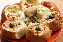 Ψωμί που γεμίζουν με το τυρί Στοκ Φωτογραφία