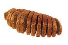 ψωμί που τεμαχίζεται μαύρ&omicro στοκ εικόνα
